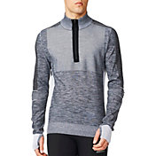 adidas Men's Primeknit Half Zip Running Sweatshirt