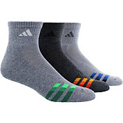 adidas Men's Color Cushioned Quarter Socks 3 Pack