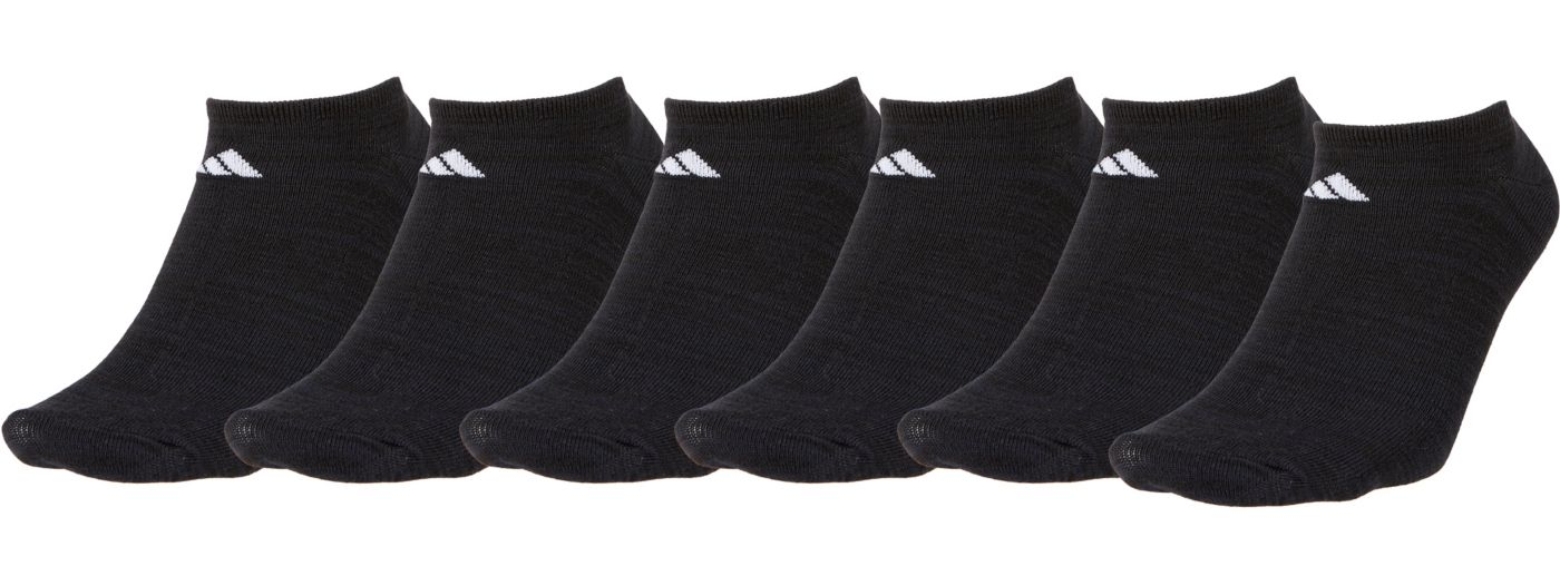 adidas Men's Superlite No Show Socks 6 Pack