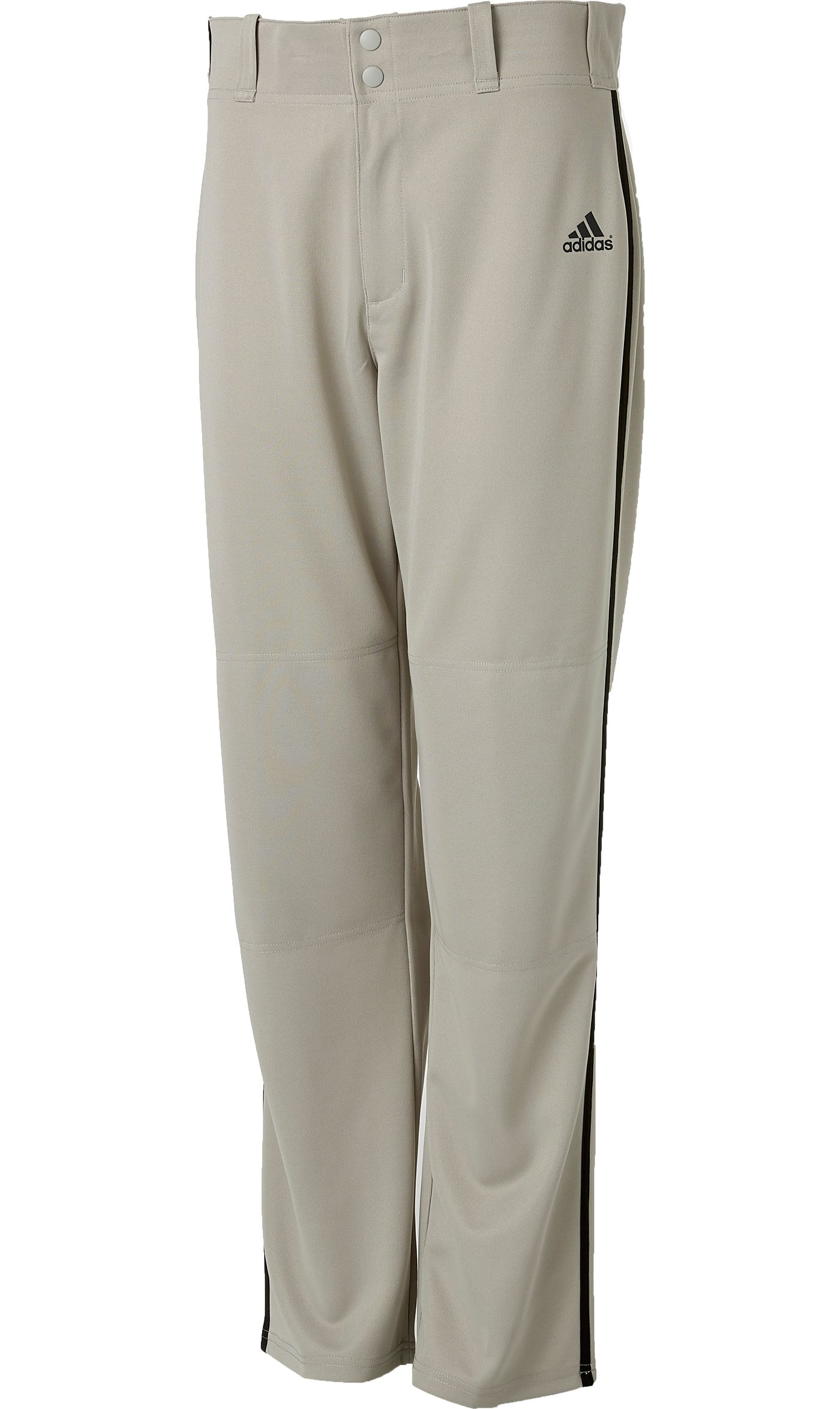 adidas Men's Triple Stripe Open Bottom Piped Baseball Pants