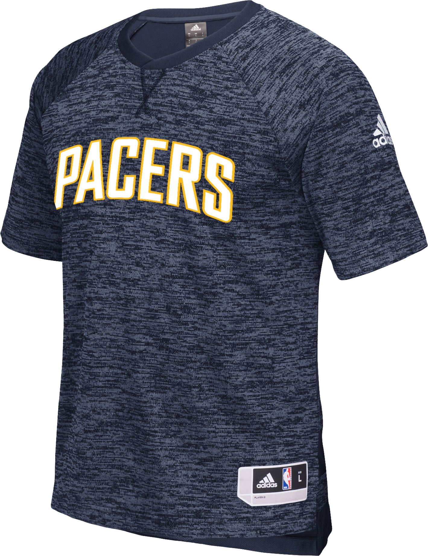 adidas Men's Indiana Pacers On-Court Navy Shooting Shirt, Size: XL, Team thumbnail