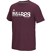 adidas Men's Mississippi State Bulldogs Maroon Sideline Grind Football Short Sleeve T-Shirt