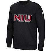 adidas Men's Northern Illinois Huskies 'Mark My Words' Crew Neck Black Sweatshirt