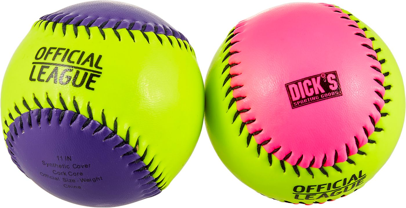 """DICK'S Sporting Goods 11"""" Game Stopper Training Fastpitch Softball – Assorted Colors"""