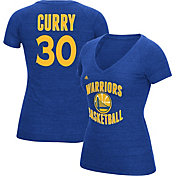 adidas Women's Golden State Warriors Steph Curry #30 Royal Tri-Blend V-Neck T-Shirt