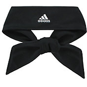 adidas Women's Solid Tie Headband in Black