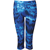 adidas Women's techfit Brushed Glitch Print Capris