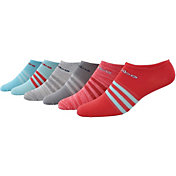adidas Women's Superlite II No Show Athletic Socks - 6 Pack