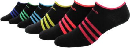 adidas Women's Superlite II No Show Athletic Socks 6 Pack