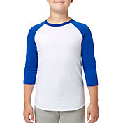 adidas Youth Triple Stripe ¾ Sleeve Baseball Practice Shirt