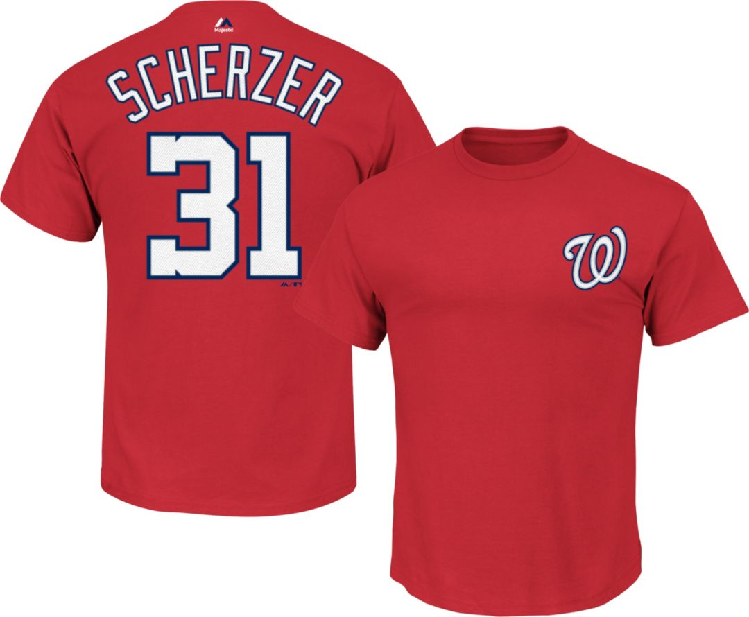 promo code e1681 7a956 Majestic Youth Washington Nationals Max Scherzer #31 Red T-Shirt