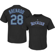 Majestic Youth Colorado Rockies Nolan Arenado #28 Black T-Shirt