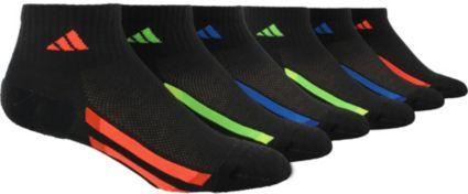 adidas Kids' Quarter Socks 6 Pack