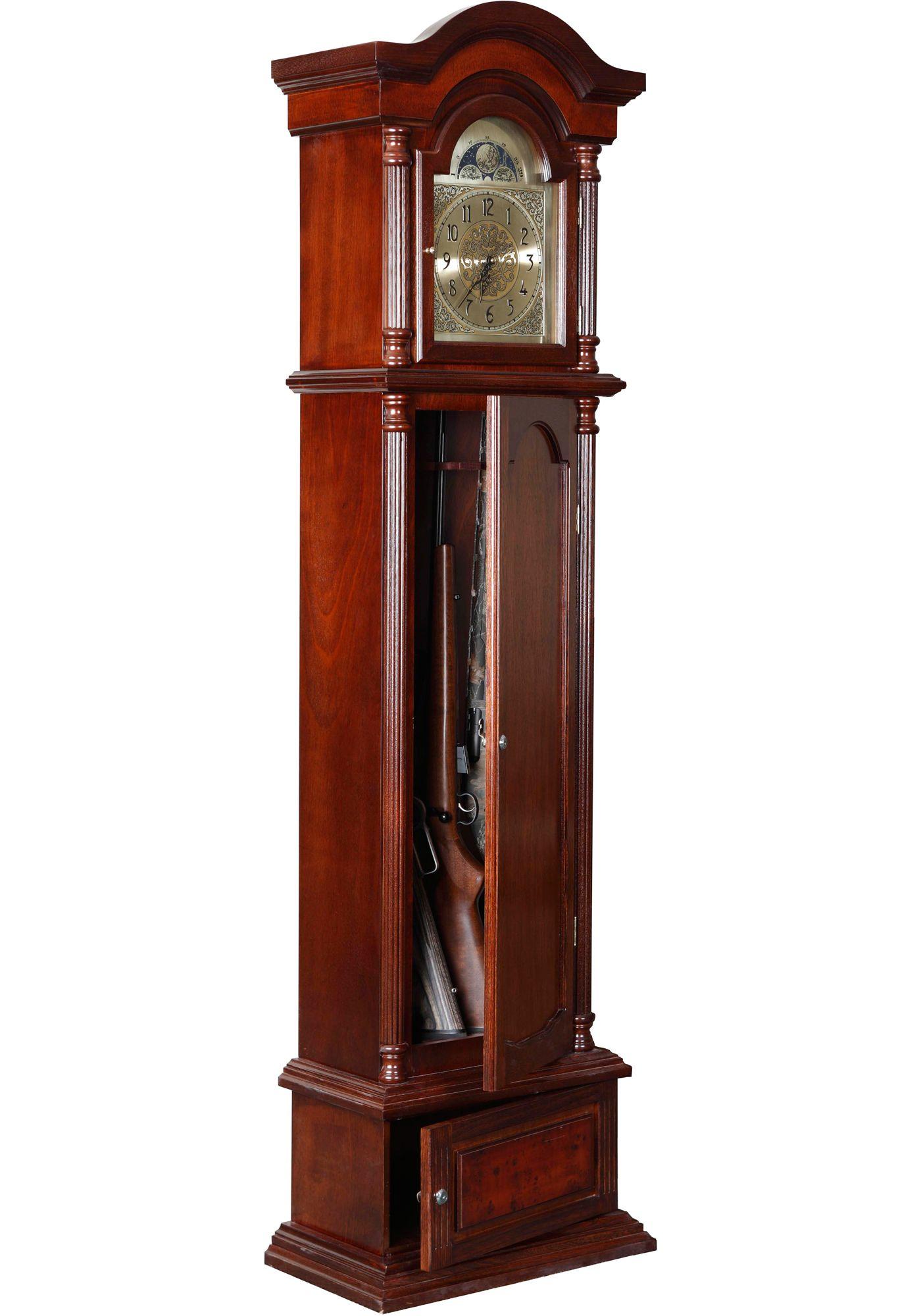 American Furniture Classics The Gunfather Clock 6 Gun Cabinet
