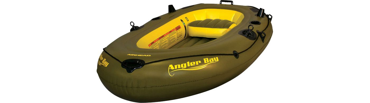 Airhead Angler Bay 3 Person Inflatable Fishing Boat