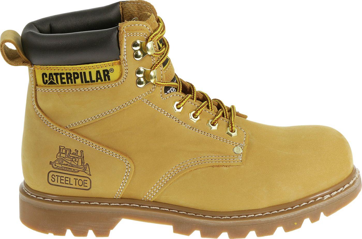 CAT Men's Second Shift Steel Toe EH Waterproof Work Boots
