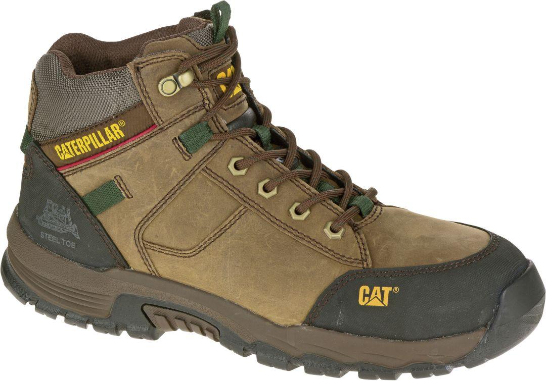 7bc6da0039c CAT Men's Safeway Mid Steel Toe Waterproof EH Work Boots