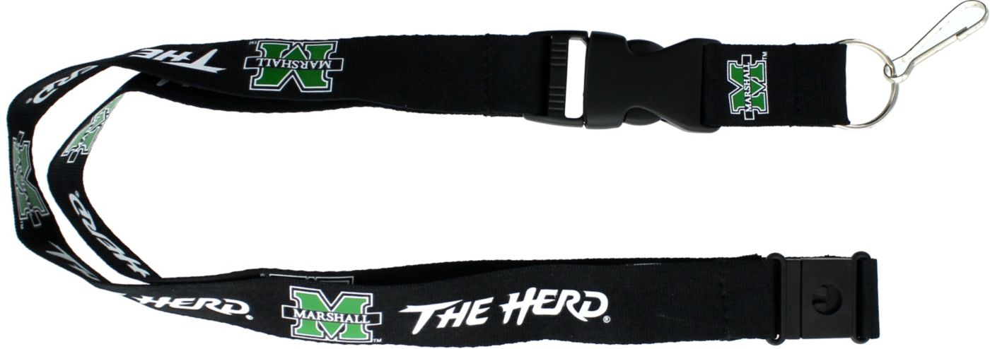 Marshall Thundering Herd Black Lanyard