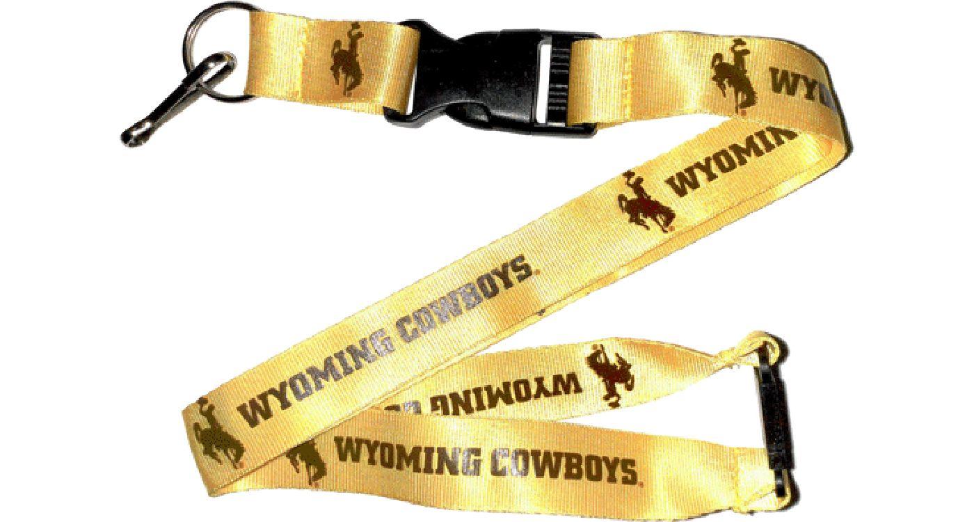 Aminco Wyoming Cowboys Gold Lanyard