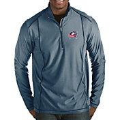 Antigua Men's Columbus Blue Jackets Tempo Half-Zip Pullover Shirt