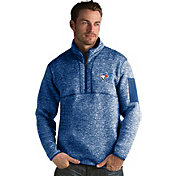 Antigua Men's Toronto Blue Jays Royal Fortune Half-Zip Pullover