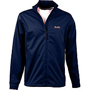 Antigua Men's Atlanta Braves Full-Zip Navy Golf Jacket