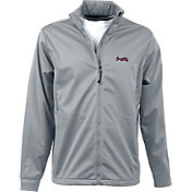 Antigua Men's Atlanta Braves Full-Zip Silver Golf Jacket