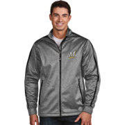 Antigua Men's Milwaukee Brewers Grey Golf Jacket