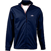 Antigua Men's Milwaukee Brewers Full-Zip Navy Golf Jacket