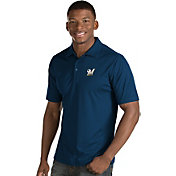 Antigua Men's Milwaukee Brewers Black Inspire Performance Polo