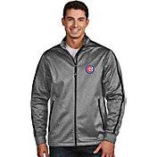 Antigua Men's Chicago Cubs Grey Golf Jacket