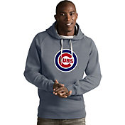 Antigua Men's Chicago Cubs Grey Victory Pullover