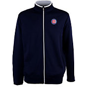 Antigua Men's Chicago Cubs Leader Navy Full-Zip Jacket