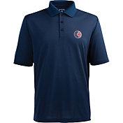 Antigua Men's Chicago Cubs Xtra-Lite Patriotic Logo Navy Pique Performance Polo