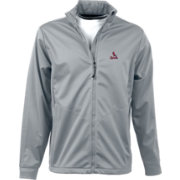 Antigua Men's St. Louis Cardinals Full-Zip Silver Golf Jacket