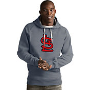 Antigua Men's St. Louis Cardinals Grey Victory Pullover