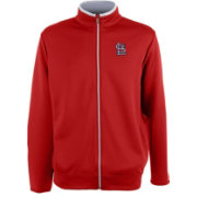 Antigua Men's St. Louis Cardinals Leader Red Full-Zip Jacket