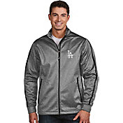 Antigua Men's Los Angeles Dodgers Grey Golf Jacket