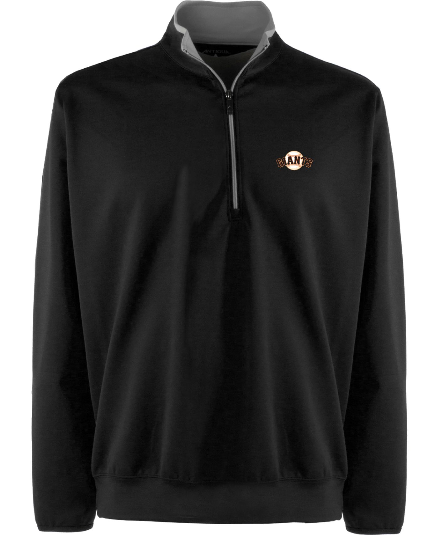 Antigua Men's San Francisco Giants Leader Black Quarter-Zip Pullover