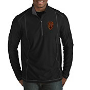 Antigua Men's San Francisco Giants Tempo Black Quarter-Zip Pullover