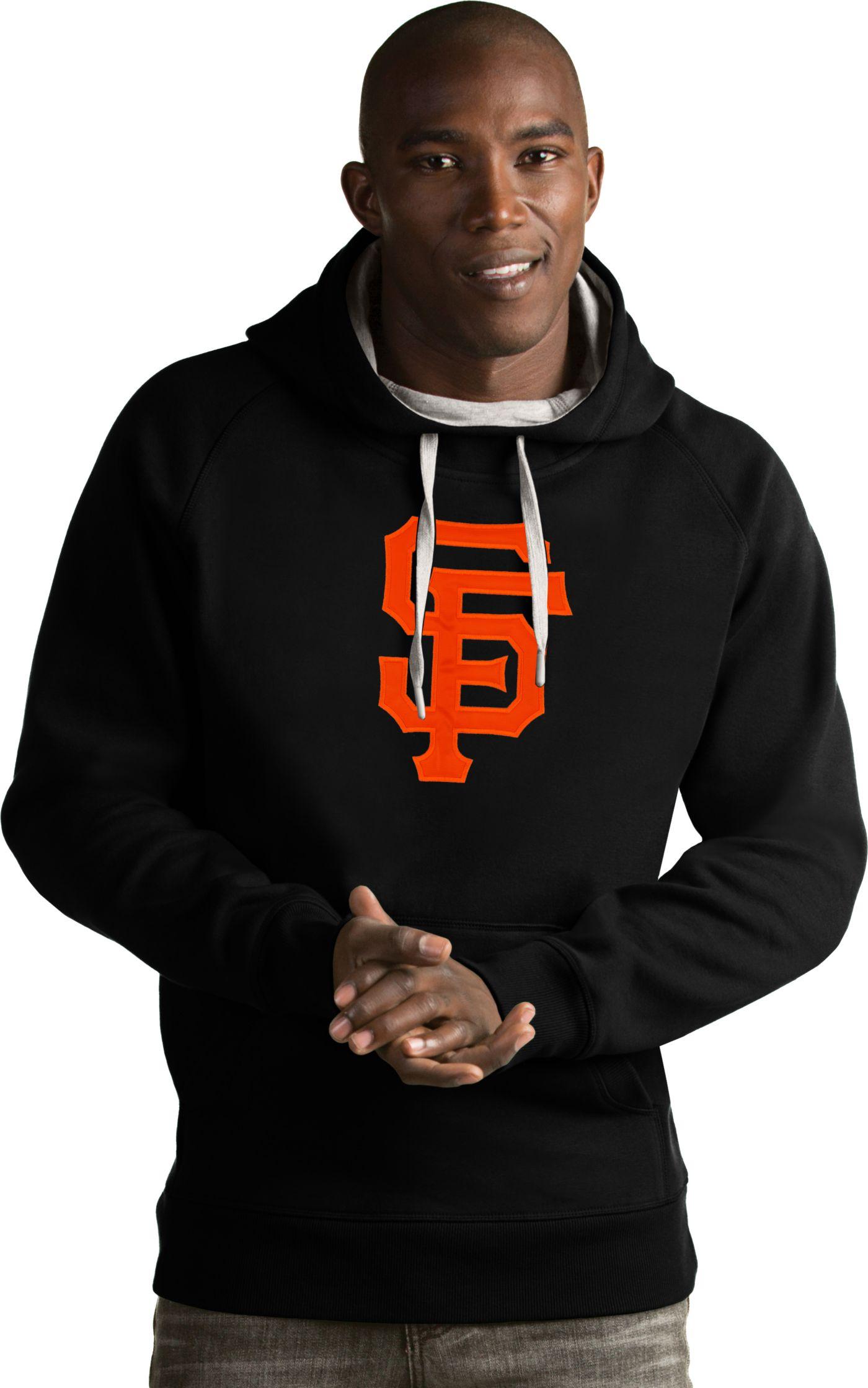 Antigua Men's San Francisco Giants Black Victory Pullover