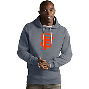Antigua Men's San Francisco Giants Grey Victory Pullover