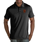 Antigua Men's San Francisco Giants Quest Black Performance Polo