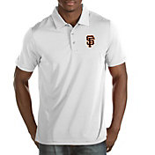 Antigua Men's San Francisco Giants Quest White Performance Polo