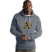 Antigua Men's Oakland Athletics Grey Victory Pullover