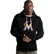 Antigua Men's Miami Marlins Black Victory Pullover