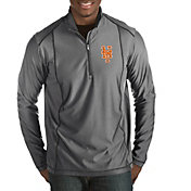 Antigua Men's New York Mets Tempo Grey Quarter-Zip Pullover