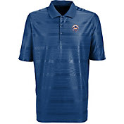 Antigua Men's New York Mets Illusion Royal Striped Performance Polo