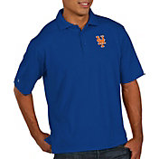 Antigua Men's New York Mets Pique Royal Performance Polo