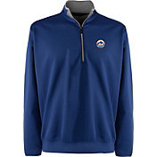 Antigua Men's New York Mets Leader Royal Quarter-Zip Pullover